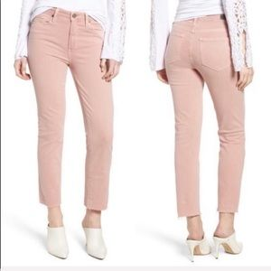 NEW • PAIGE • Hoxton Straight Ankle Jean Pale Pink